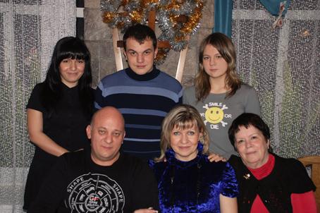 Надежда Леонидовна Ганжула в кругу семьи