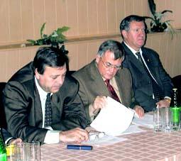 На конференции: И.Чуркин, Э.Лакомов, Б.Кабаргин