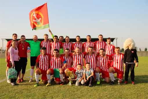 Футбольная команда Калинина из села Кульбаково