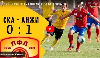 СКА Ростов - Анжи Махачкала - 0-1