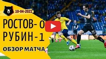 Ростов - Рубин 0-1 видео обзор